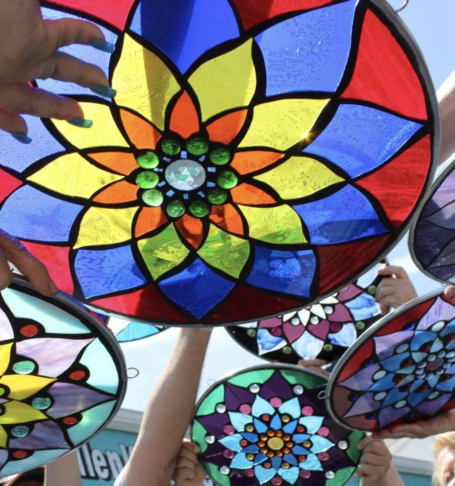 Glass On Mosaic Mandala WE 11